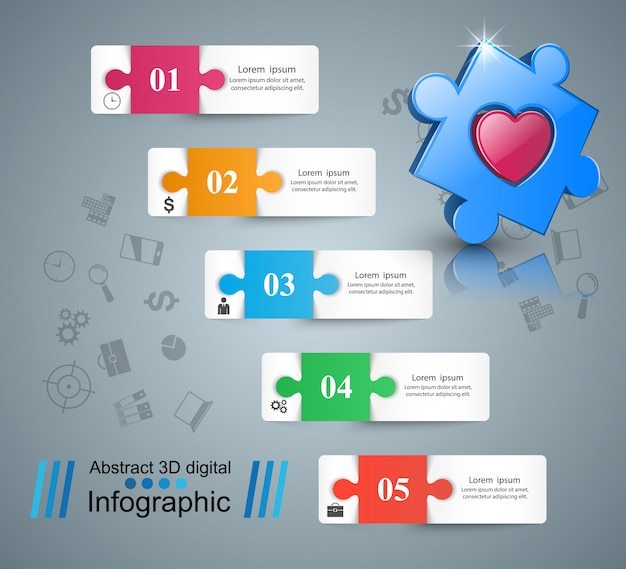 Health infographics origami style vector illustration.