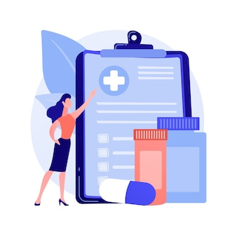 Health insurance abstract concept vector illustration. health insurance contract, medical expenses, claim application form, agent consultation, sign document, emergency coverage abstract metaphor.