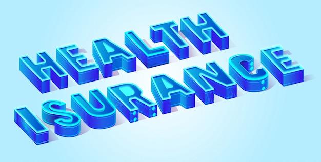 Health insurance isometric