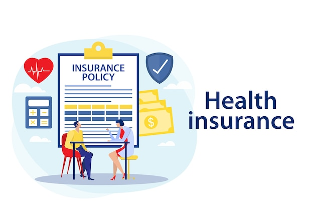 Health insurance policy illustration