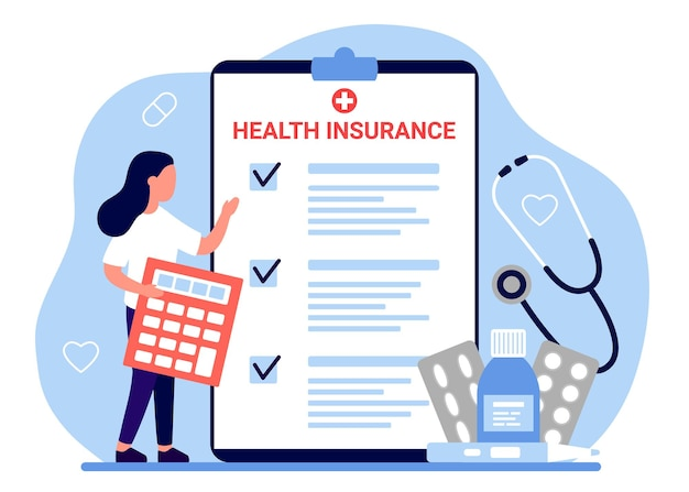 Health insurance tax claim law document woman count form of healthcare