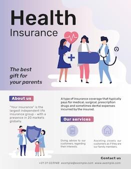 Modello di assicurazione sanitaria per volantino