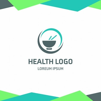 Health logo template with circular shapes