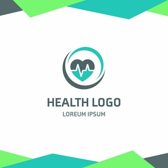 Health logo with a heart