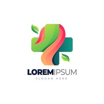 Health medic gradient logo template