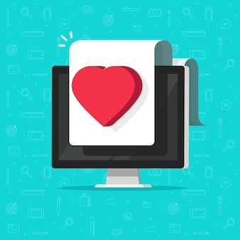 컴퓨터 화면에 온라인 건강 의료 디지털 문서