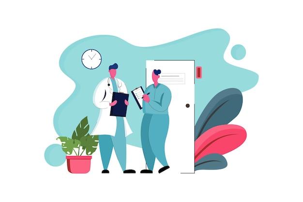 Health and medical web illustration