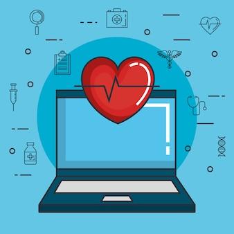 Health medicine online icons
