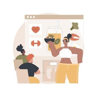 Health and nutrition workshop illustration