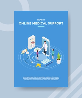 Health online medical support flyer template