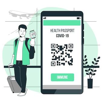 Иллюстрация концепции паспорта здоровья