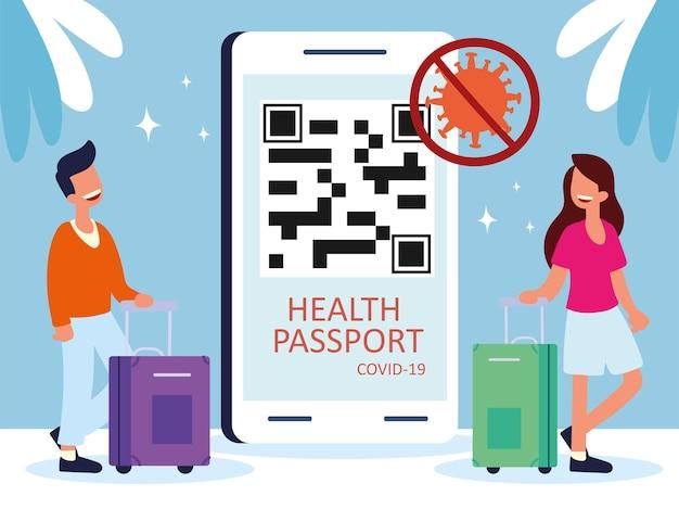 Health passport for travelers