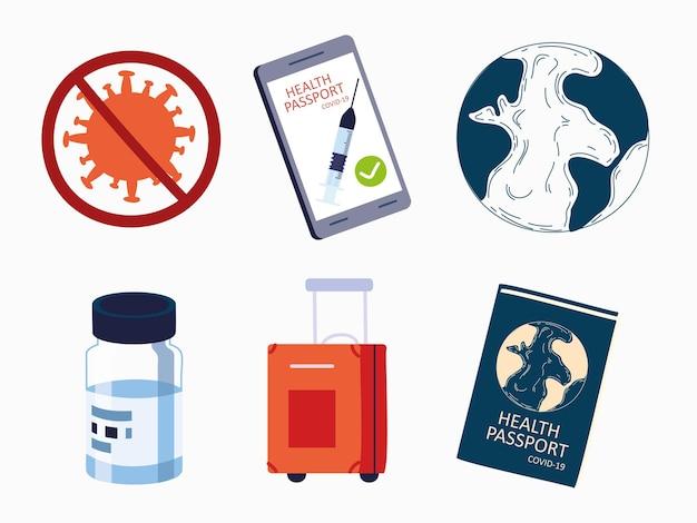 Health passport for traveling