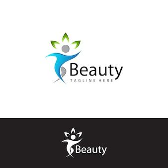 Health people beauty logo template design vector