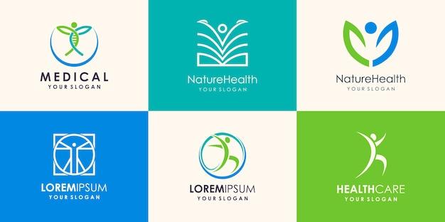 Health people logo design icon vector
