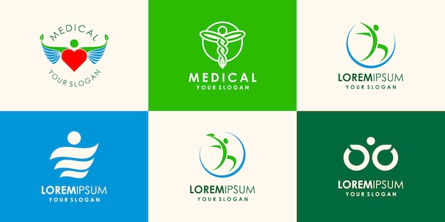 Health people logo icon vector