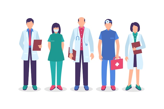 Health professional team collection