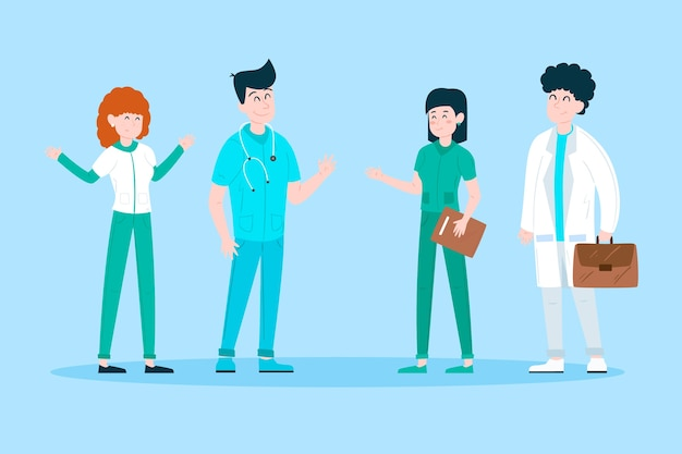 Health professional team concept