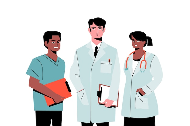 Team di medici professionisti della salute