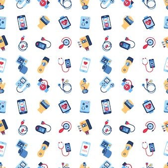Health sensor icons collection