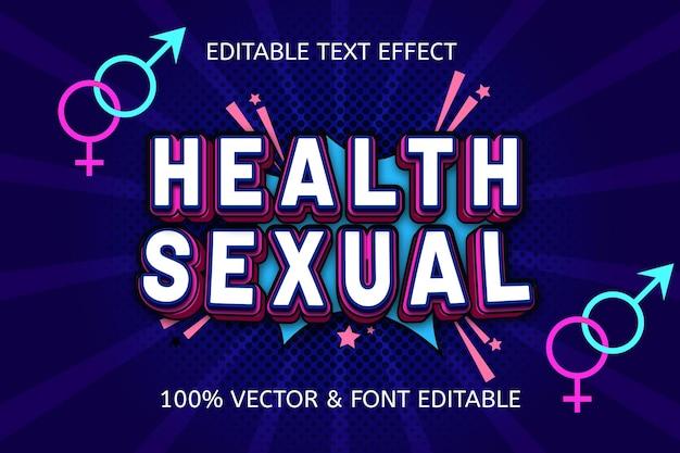 Редактируемый текстовый эффект в сексуальном стиле здоровья