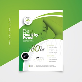 Health and spa flyer