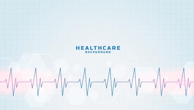 ハートビートラインとヘルスケアおよび医療の背景