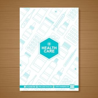 ヘルスケアと医療カバーa 4チラシデザインテンプレート