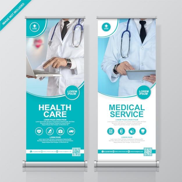 Шаблон оформления баннера для медицинских и медицинских учреждений.
