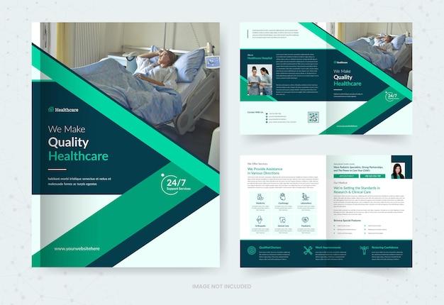 Healthcare bifold brochure template