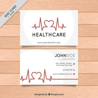 Healthcare business card Premium Vector