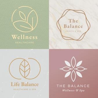 Healthcare center logo template set