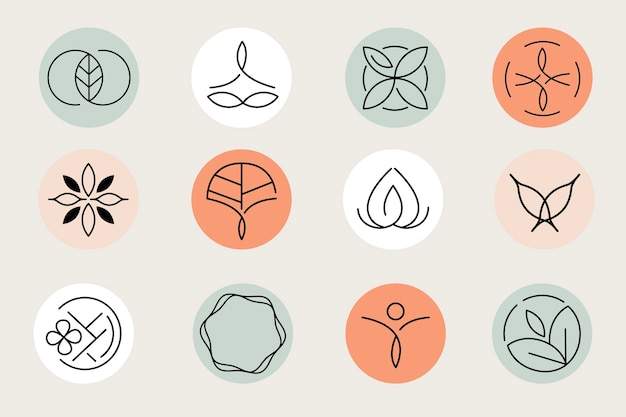 Set di modelli di logo del centro sanitario