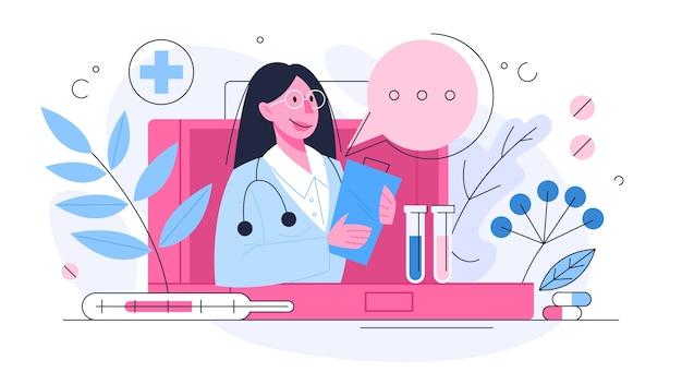 ヘルスケアの概念、患者の健康を気遣う医師のアイデア。治療と回復。図