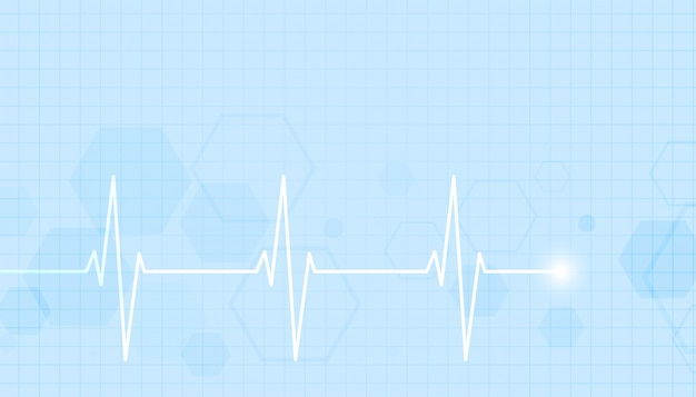 Healthcare and medical background with heartbeat line