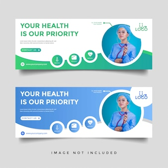 Healthcare & medical banner promotion template