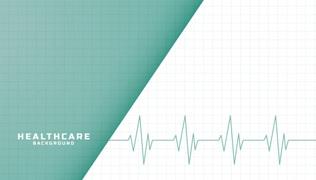 Healthcare and medical banner with heartbeat line