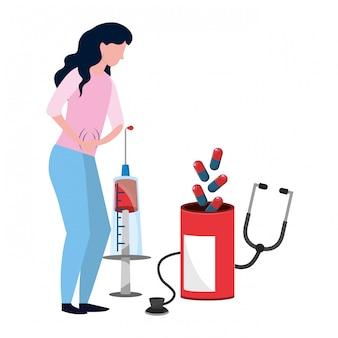 Healthcare medical cartoon