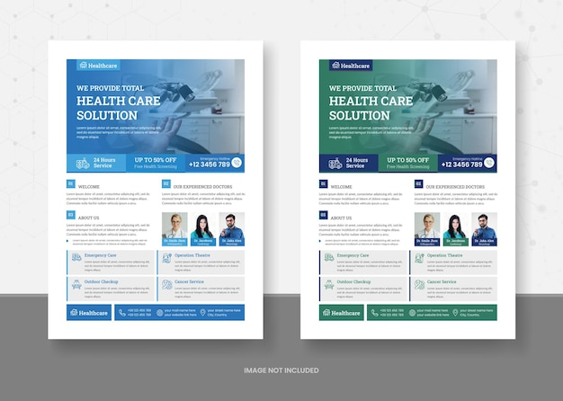 Healthcare and medical flyer template design