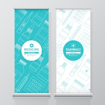 Healthcare and medical roll up and standee design