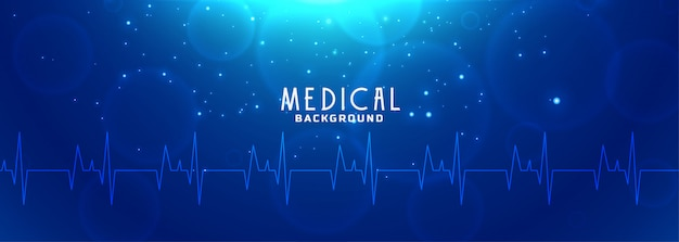 Healthcare and medical science blue banner