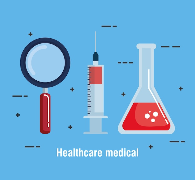 Healthcare medical set icons