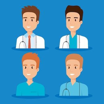 ヘルスケア医療スタッフのキャラクター
