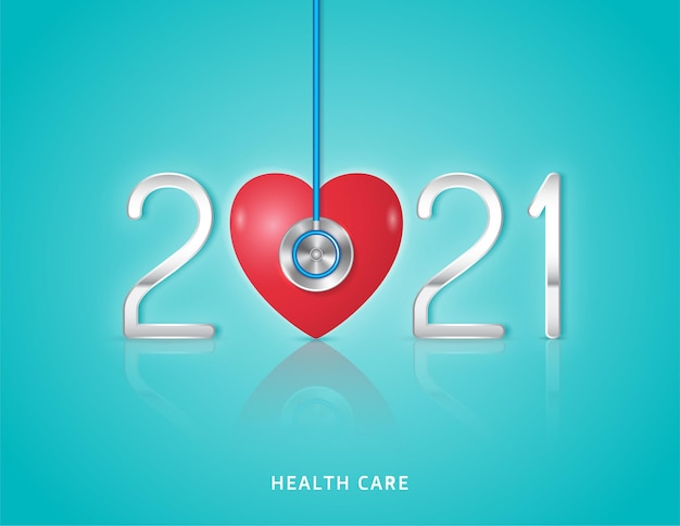 Healthcare and medical stethoscope and heart checkup