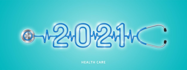Healthcare and medical stethoscope shape 2021