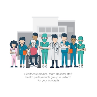 Healthcare medical team