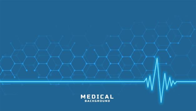 Sanità e medicina con linea cardiografica Vettore gratuito