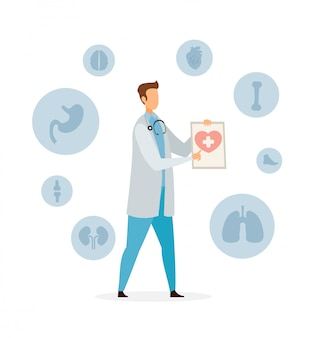 Healthcare and medicine flat vector illustration
