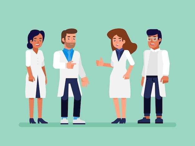 ヘルスケアの人々のグループ。看護師と外科医と専門の医師。