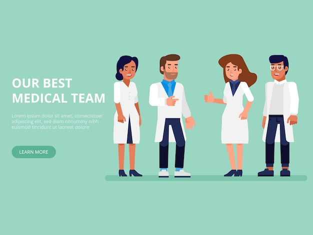 Healthcare people group. professional doctors with nurse and surgeon.
